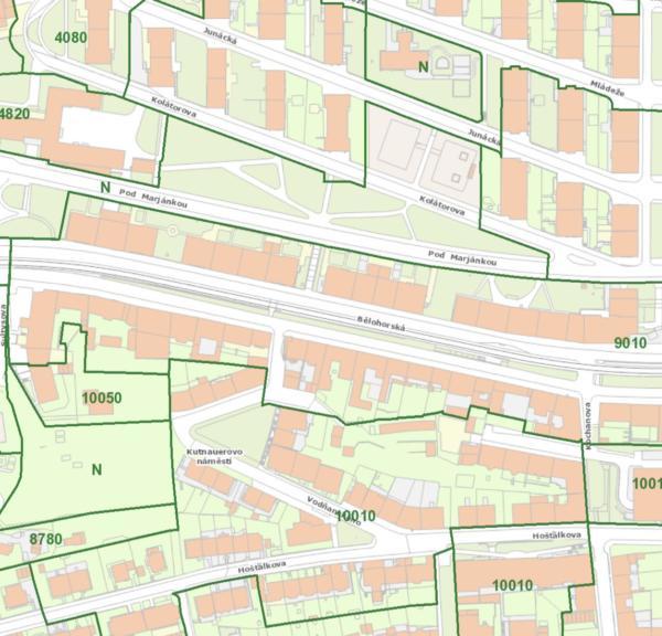 cenová mapa nemovitostí